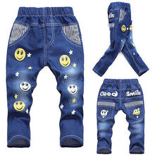 Kid Jeans Unisex Toddler Baby Kid Toddler Trousers Pants Size 2-6Year Brand New (China (Mainland))