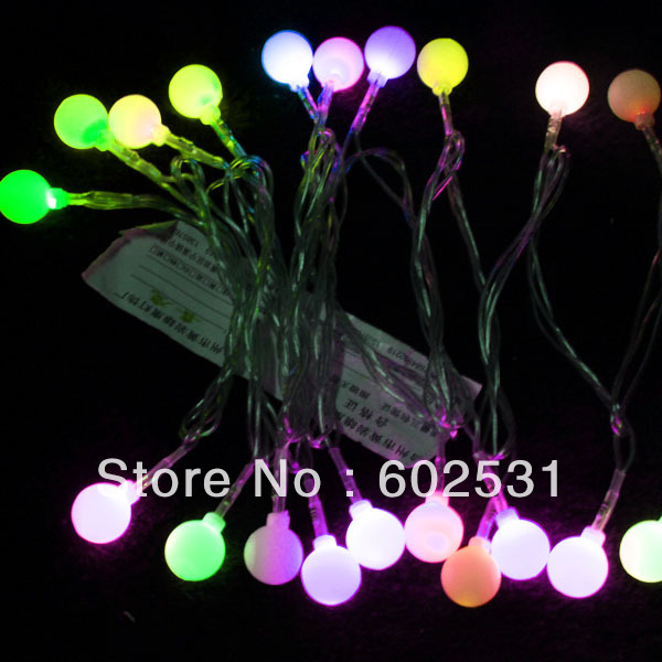 Free shipping-LED lights/Christmas tree decoration/garden decoration/hotel supplies (2.5 m round bead cell lamp)<br><br>Aliexpress
