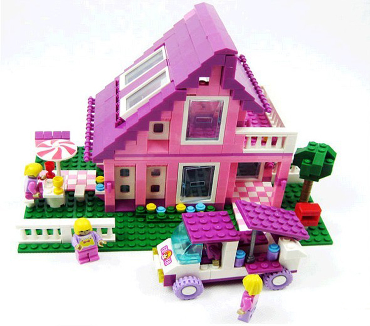 Construction Toys For Girls : Ausini building blocks hot toy country house villa cottage