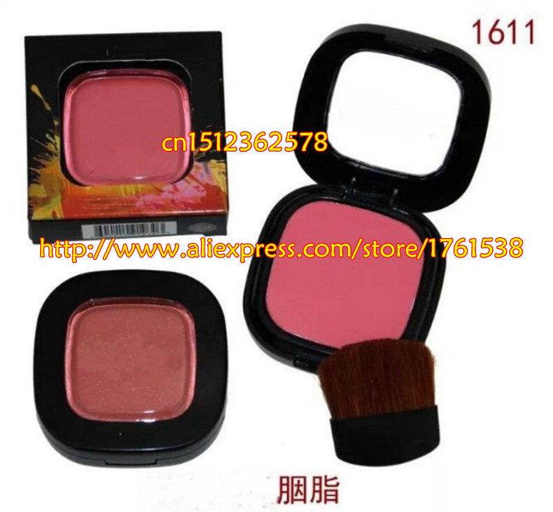 New Brand NK 6 Makeup Baked Blusher Make up Blush, 8 Colors NK6 Bright Red Rouge Blush (2 pcs/lots)2pcs brushes Free Shipping(China (Mainland))