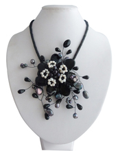 No shipping / # 269 black onyx necklace(China (Mainland))