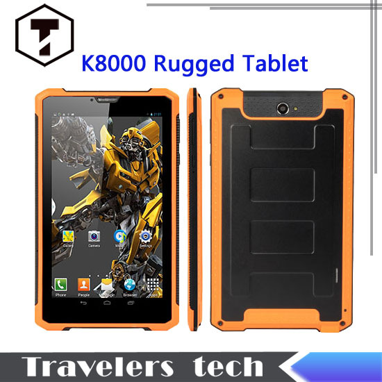 NEW Original rugged tablet pc PS K8000 MTK6572 dual core 7 inch screen 1GB RAM+8GB ROM 3G WCDMA Android 4.2 WIFI GPS 6500mAh(China (Mainland))