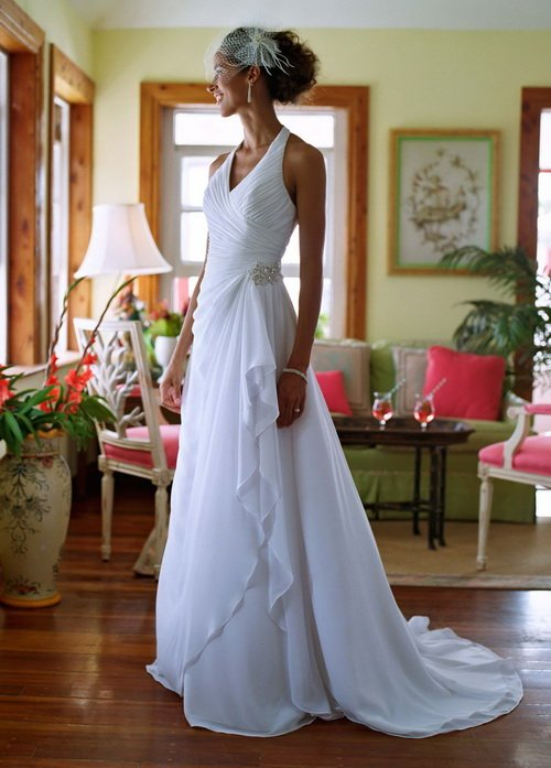 Free shipping!Beach floor-length court train beading halter off the shoulder for women princess royal train wedding dress 2012(China (Mainland))