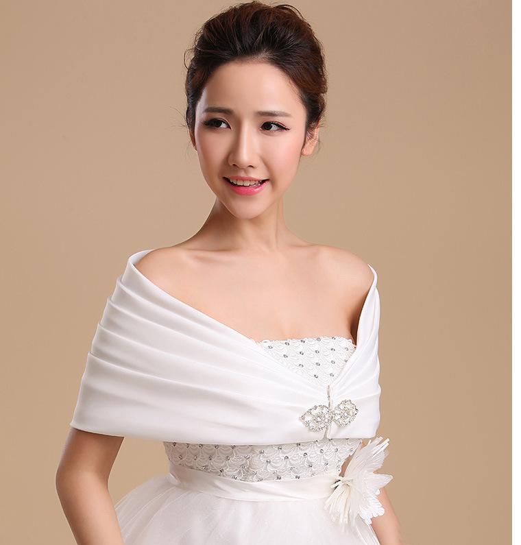 Red white satin bolero bridal wedding wrap shawl bridal for White bolero for wedding dress