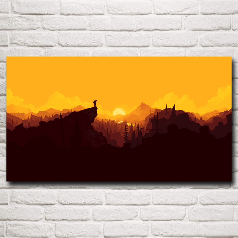 Firewatch Video Games Mountains Minimalism Art Silk Poster Home Decor Printing 11x20 16x29 20x36 24x43 30x54 Inch Free Shipping(China (Mainland))
