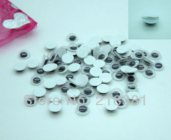 2000pcs/Lot 6MM Free shipping Hot Sell Plastic  Doll Eyes With Self-adhesive  Scrapbooking Crafts A00451