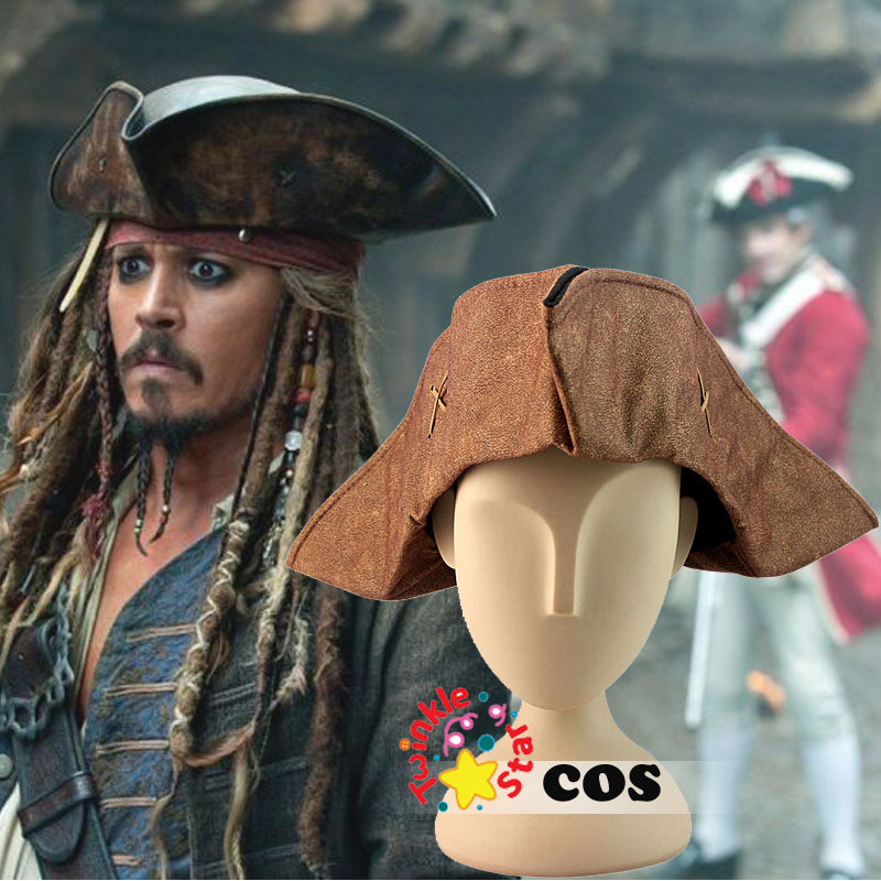 2015 Halloween costumes for adult Pirates of the Caribbean Captain Jack sparrow Cosplay accessories  Jack sparrow Hat