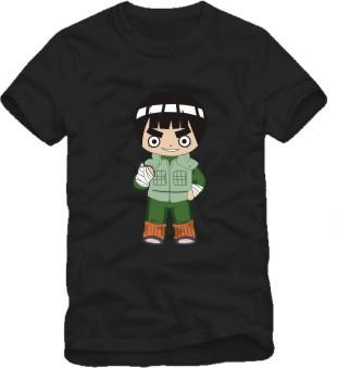 Japanese anime Naruto cartoon figure Rock Lee Printed men's T-Shirt T Shirt For men summer Short men Cotton Casual Top Tee(China (Mainland))