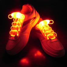 Free ShippingParty Skating Charming LED Flash Light Up Glow Shoelaces Shoe Laces Shoestrings(China (Mainland))
