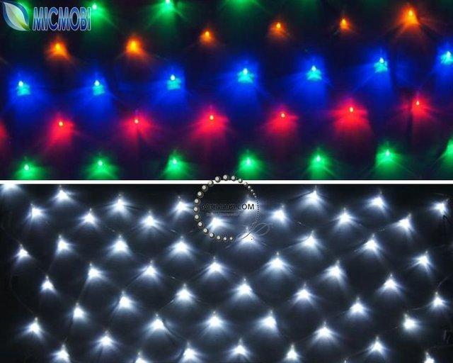 5PC/LOT 220V 120 Led web lights wedding ceremony fairy lighting Christmas xmas multicolor string net light curtain lamp FI-12