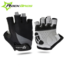 Buy ROCKBROS Cycling Anti-slip Anti-sweat Men Women Half Finger Gloves Breathable Anti-shock Sports Gloves MTB Bike Bicycle Glove for $5.23 in AliExpress store