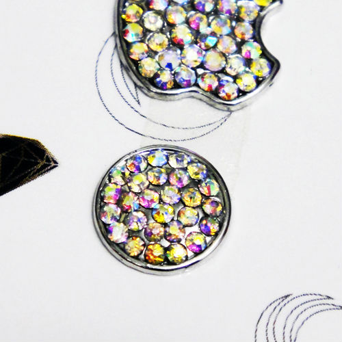 Colorful Bling Logo and Home Button Crystal Sticker for iPhone 5S 5C 5G 4S 4 3GS 3G iPod Touch 5 4 3 2 - ELE-STI094B(China (Mainland))