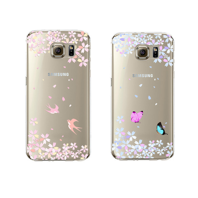 Aliexpress.com : Buy Butterfly Soft Silicon Transparent Fundas Capa ...