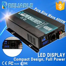 Off grid 4000W LED Display high frequency 12v 220v dc ac converter Solar Power generator Pure Sine Wave Inverter home inverter(China (Mainland))