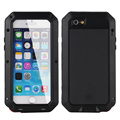 i5 6 7 Luxury Shockproof Waterproof Powerful Protection Aluminum Tempered Glass Metal Cover Cell Phone Case