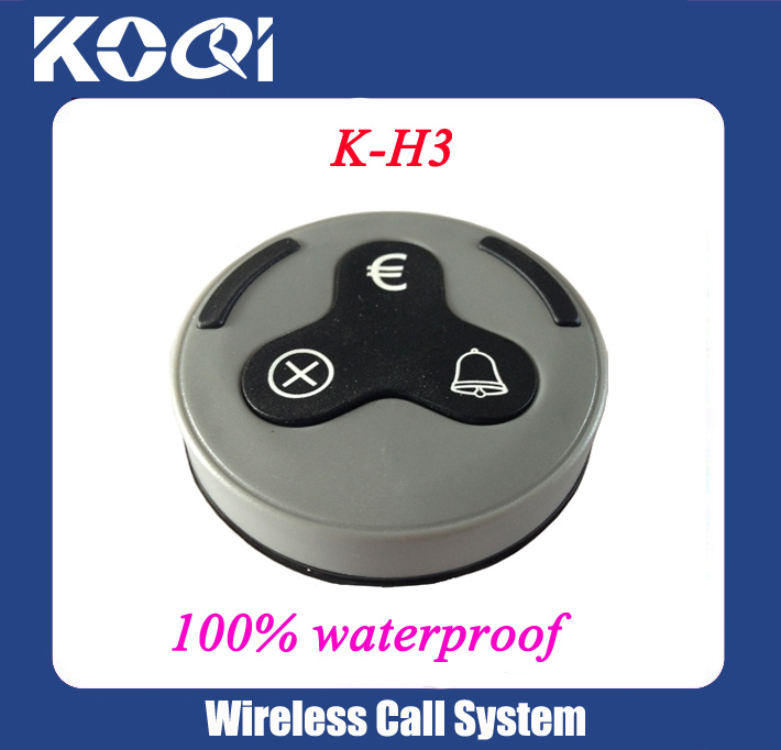 433.92mhz Customer call button system wireless service equipment with 3 keys euro symbol for cafe,restaurant use(China (Mainland))
