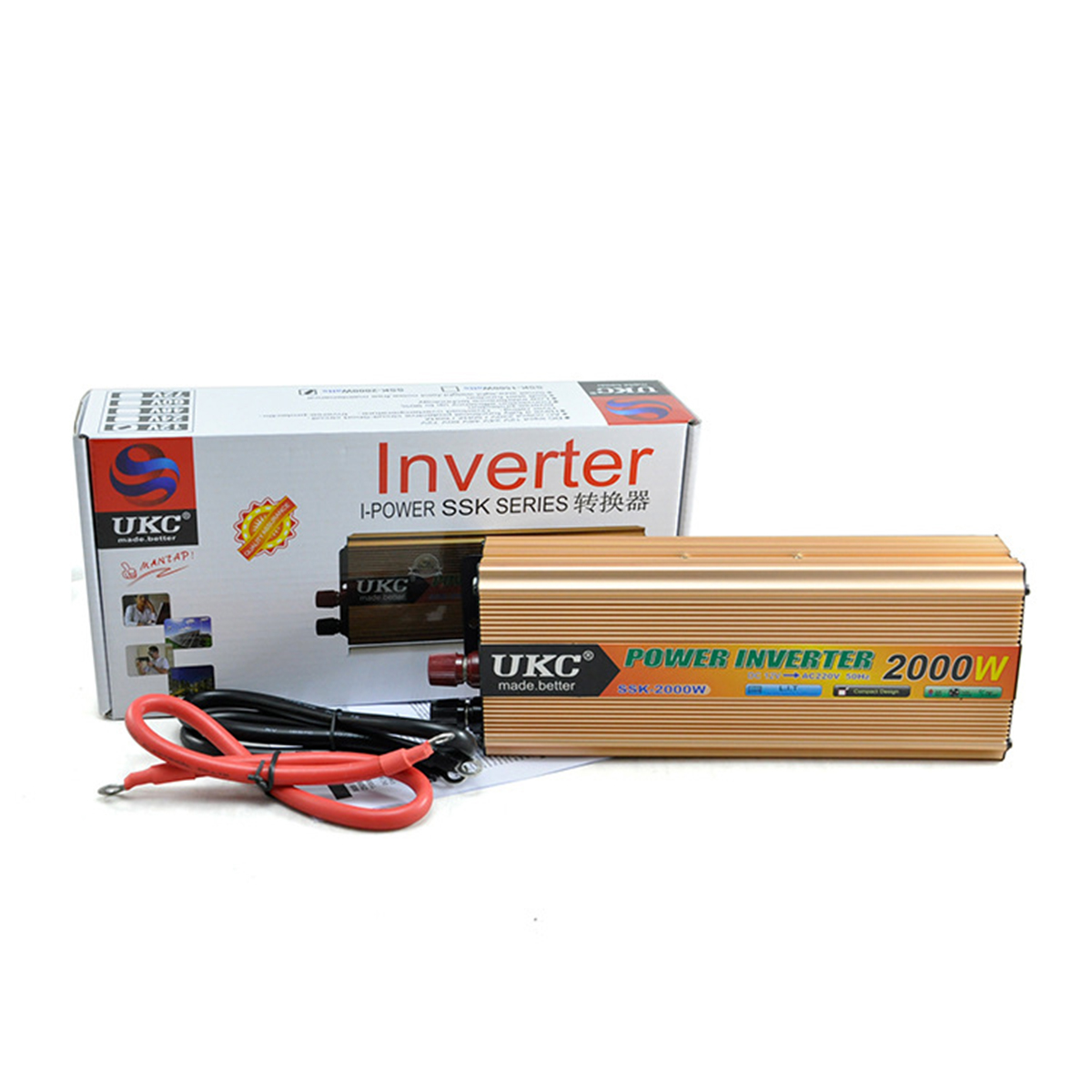 Car Inverter 12V 220V 2000W 50HZ with Battery Charger Power DC 12V to AC 220V CY178-CN-2(China (Mainland))
