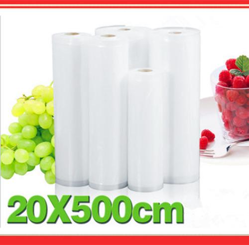 20cm*500cm,home vacuum food packing Bags,Hot Sale Keep food fresh Food Storage Bags Sealing Sealer Rolls(China (Mainland))