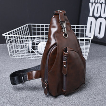2015 New Arrival Fashion Man Bag Leather PU Man Messenger Shoulder Bag Casual Chest Pack Men's Crossbody Bag Free Shipping