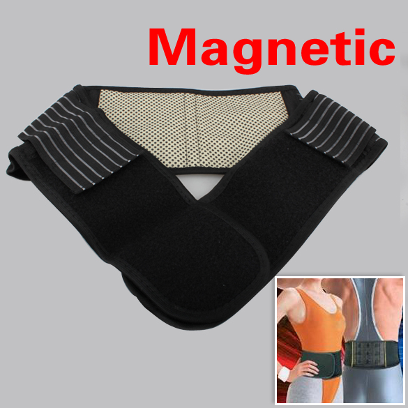 Adjustable Self-heating Lower Pain Relief Magnetic Therapy Back Waist Support Lumbar Brace Belt Double Pull Strap(China (Mainland))