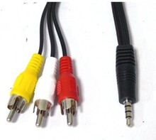 Brand New 3.5mm Jack to 3 x RCA Phono Lead Audio / Video AV Cable HOT!!