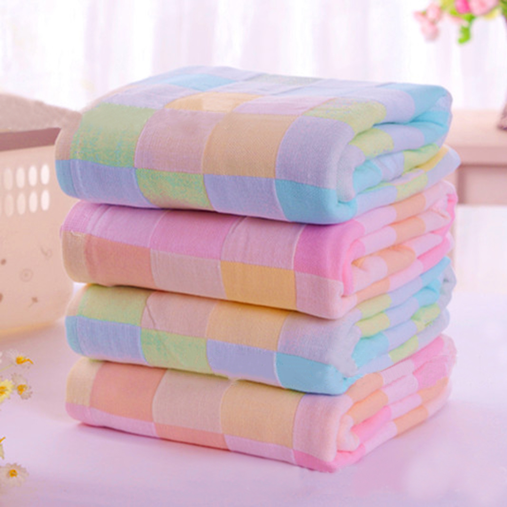 28*28cm Square Towels Cotton gauze Plaid Towel Kids Bibs Daily Use Hand Face Towels for Kids Inexpensive(China (Mainland))