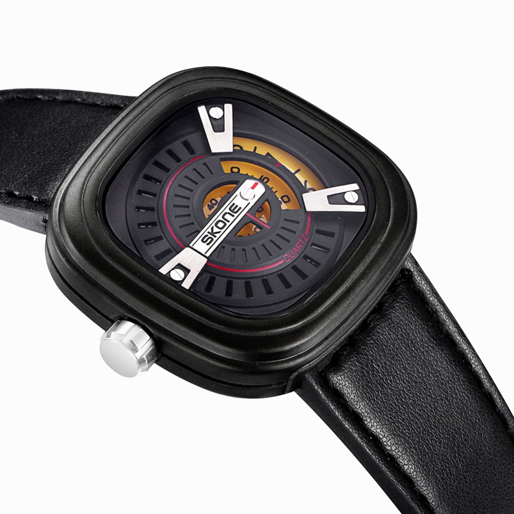 watch gigli picture more detailed picture about skone novelty skone novelty futuristic square dial designer men watches shock resistant leather strap watch fashion casual wristwatch