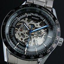 Tira ganador mecánico automático del reloj de la tendencia de mens ocasional del reloj de recorte jwh035 deportes