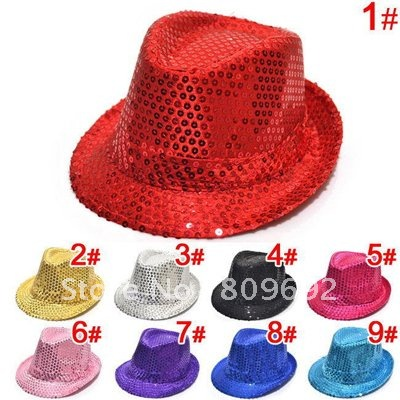 Fashionable sequins Kids Fedora Hat Baby Spring/Autumn Top Hat Child Canvas Jazz Cap Baby Summer Topee Infant Cowboy Cap MZ-0383(China (Mainland))