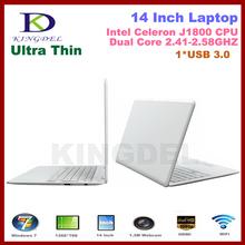 13.3 inch laptop computer Notebook with Intel Atom D2500 Dual Core Webcam HDMI,WIFI,4500mah Battery Windows7 4GB/640GB