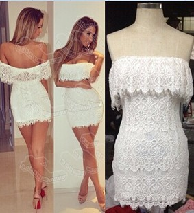 White Strapless Summer Dress - Colorful Dress Images of Archive