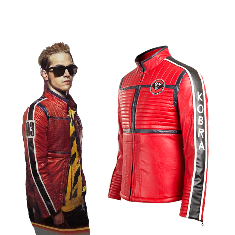 Movie Cos My Chemical Romance Kobra Kid Cosplay Costume Soft Leather Gerard Way Theme Party Coat Jacket Red Customize