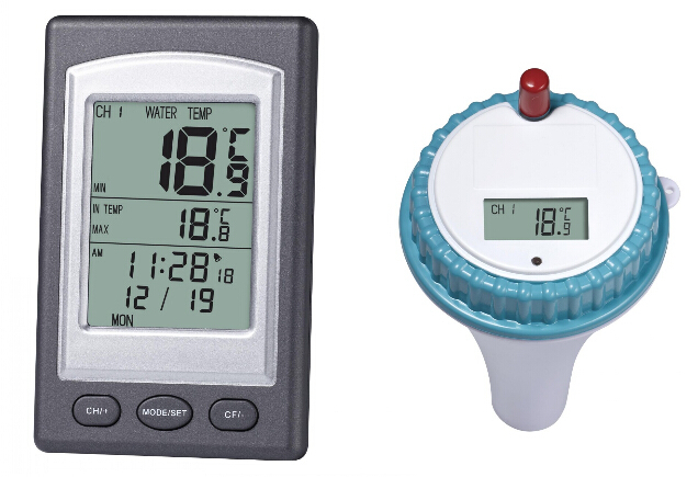Free Shipping Wireless Indoor & Outdoor Pool Thermometer(China (Mainland))