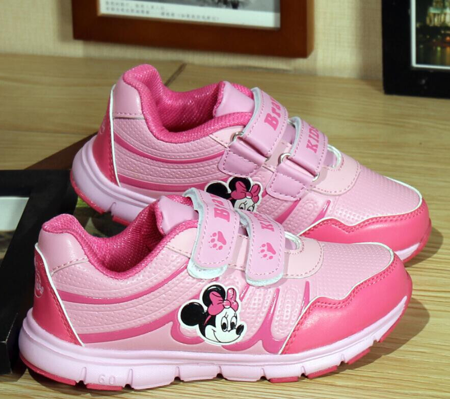 2015 Children Shoes Girl Breathable Minnie Sneaker Shoe/Boys Girls Mesh Smelly Feet Soft Chaussure/Kids Sneakers - SAR store