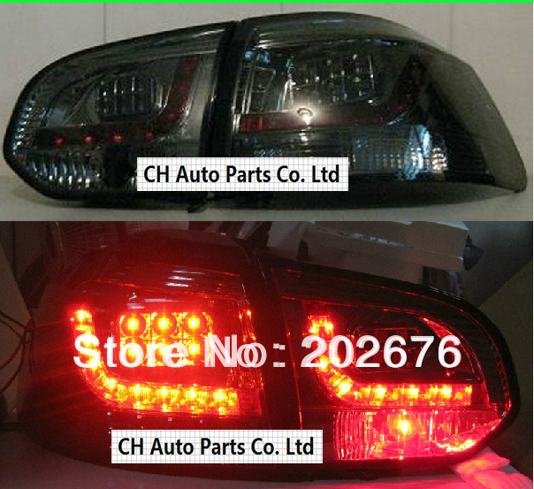 FREE SHIPPING , VOLKSWAGEN VW GOLF6 R20 BLACK LED AUTO TAIL LIGHT/REAR LAMP ASSEMBLY<br><br>Aliexpress