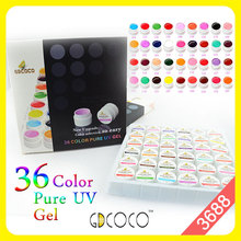 #3688 Nail art guangzhou 2016 new gdcoco 36 pure color nail gel kit - CANNI NAIL ART store