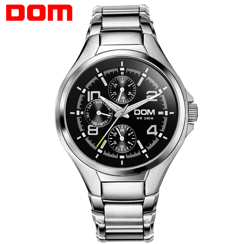 Фотография DOM Men mens watches top brand luxury waterproof quartz stainless steel watch sport watches for men