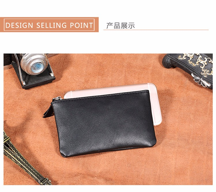 genuine leather wallet purse women coin (7)