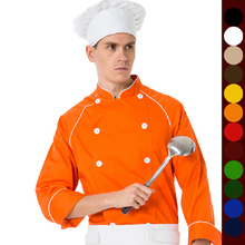 Spring and autumn clothing cook long-sleeve double breasted anti-static work wear chef jacket coat cooking suit