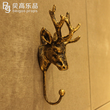 European-style clothing store display racks coat hanger clothes shop wall iron wall hooks deer wall hanging point(China (Mainland))