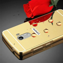 Buy New Housing Lenovo K4 Note A7010 PC Mirror Back Cover & Aluminum Metal Frame Phone Bag Coque Funda Lenovo Vibe X3 Lite for $2.99 in AliExpress store