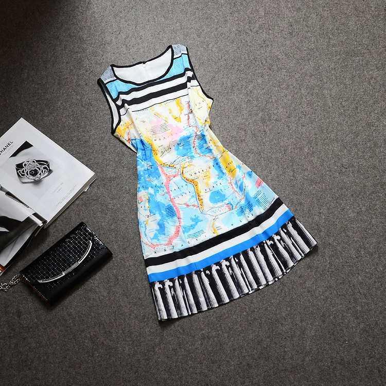 Top qualité pour l'europe été 2014 nouvelles cartes imprimé robes avec douce 1435293752(China (Mainland))