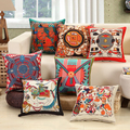 Hot 45 45cm Top Quality Luxury Embroidered Home Sofa Car Decro Cushion Throw Pillowcase Vintage Noble