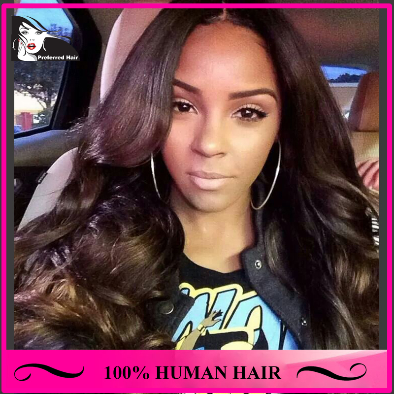 Peruvian Natural Wig Virgin Hair Natural Color Wavy Full Lace Wigs & Lace Front Wigs Human Hair Half Wigs For Black Women(China (Mainland))