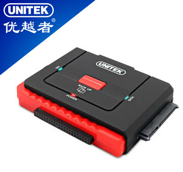 2015 New UNITEK Y-1031 USB to SATA/IDE adapter 1-to-3 3 hard disk work at the same time retail and wholesale drop/free shipping(China (Mainland))