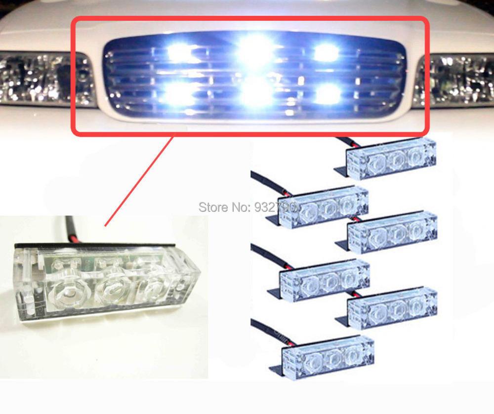 new 12v 18 led emergency car auto truck vehicle strobe flashing lights. Black Bedroom Furniture Sets. Home Design Ideas