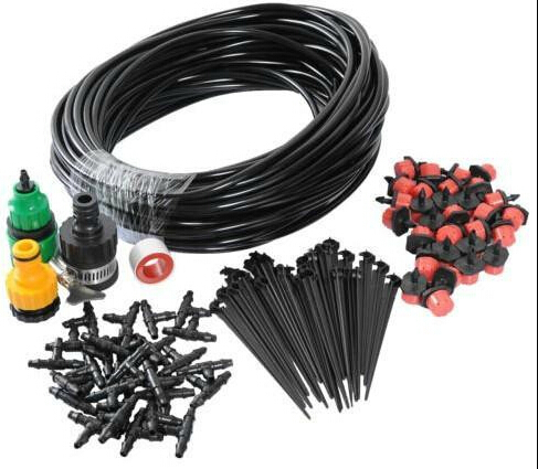 Top Quality DIY Micro Drip Irrigation System Automatic Plant Garden Watering Kit Gardening Drip Irrigation 25M Hose 30Drippers(China (Mainland))