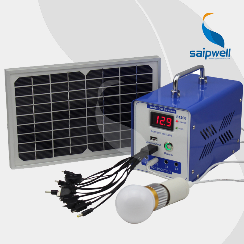 ***Without Battery*** Newest Mini Solar Generator / LED Display Solor System 12V 6AH (SP-1206H)(China (Mainland))