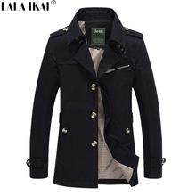 Spring Trench Coat Men Big Size Long Coat Men Solid Long Sleeve Long Trench Coats For Men Oversize Overcoat 4XL 5XL SMS0037-4.5(China (Mainland))