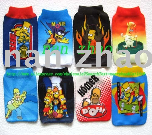 20pcs The Simpson Family MOBILE PHONE bags Pouch Socks(China (Mainland))